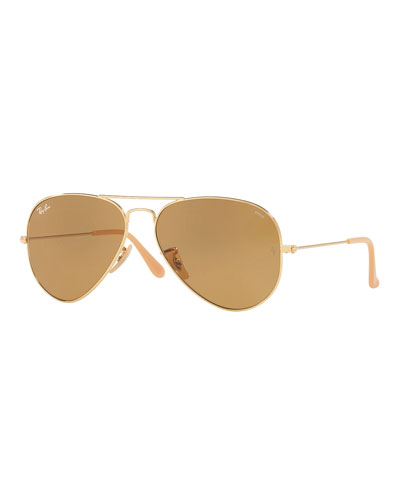 Polarized Metal Aviator Sunglasses