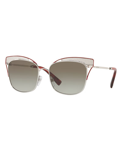 Peaked Square Metal Sunglasses