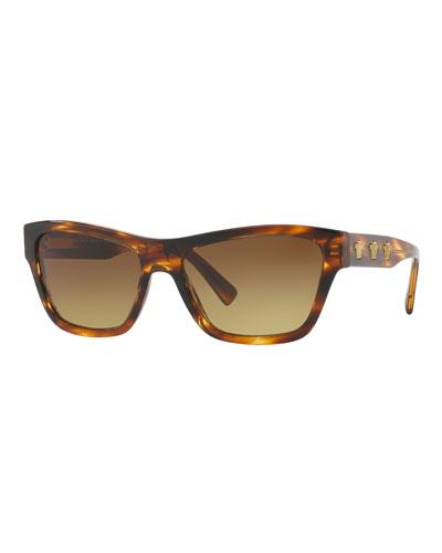 Medusa Acetate Square Sunglasses