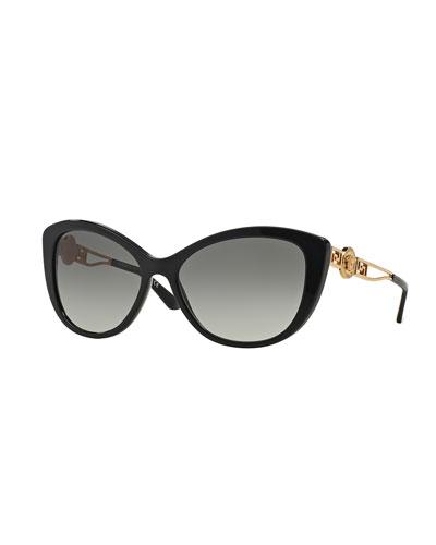 Cat-Eye Gradient Medusa Sunglasses