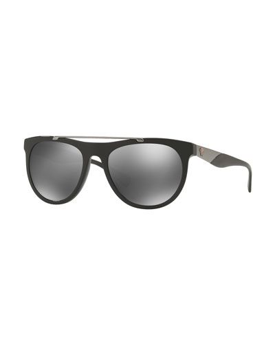 Square Acetate Contrast-Temple Sunglasses