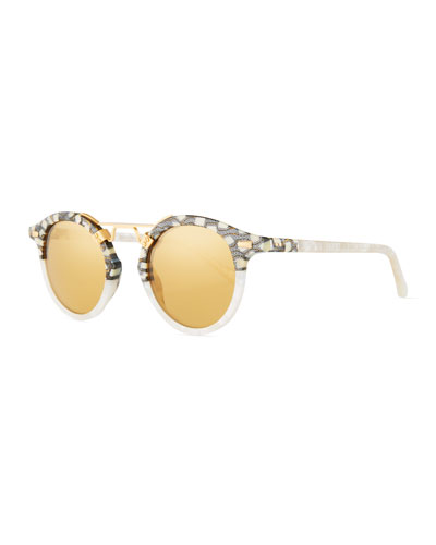 St. Louis Round Mirrored Sunglasses