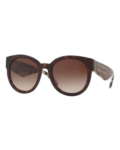 Round Gradient Logo Sunglasses