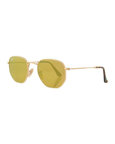 Mirrored Hexagonal Sunglasses