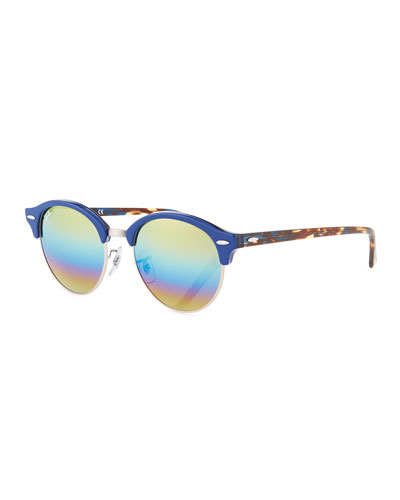 Round Mirrored Clubmaster® Sunglasses