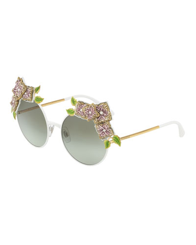 Square Sunglasses with Rounded Arms