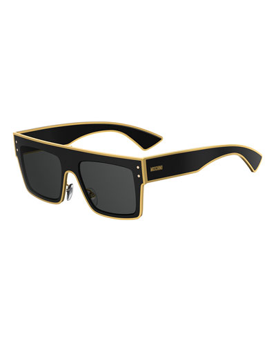Rectangle Two-Tone Acetate Sunglasses