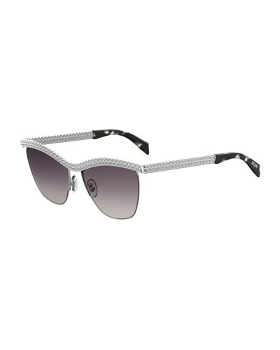 Curb-Chain Gradient Sunglasses