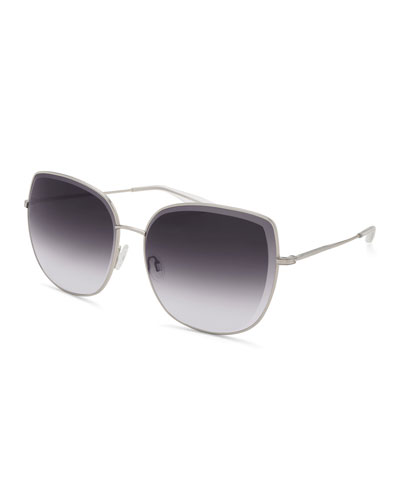 Espirutu Gradient Butterfly Sunglasses, Silver Smolder