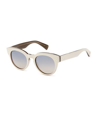 Lorna Round Polarized Titanium Sunglasses