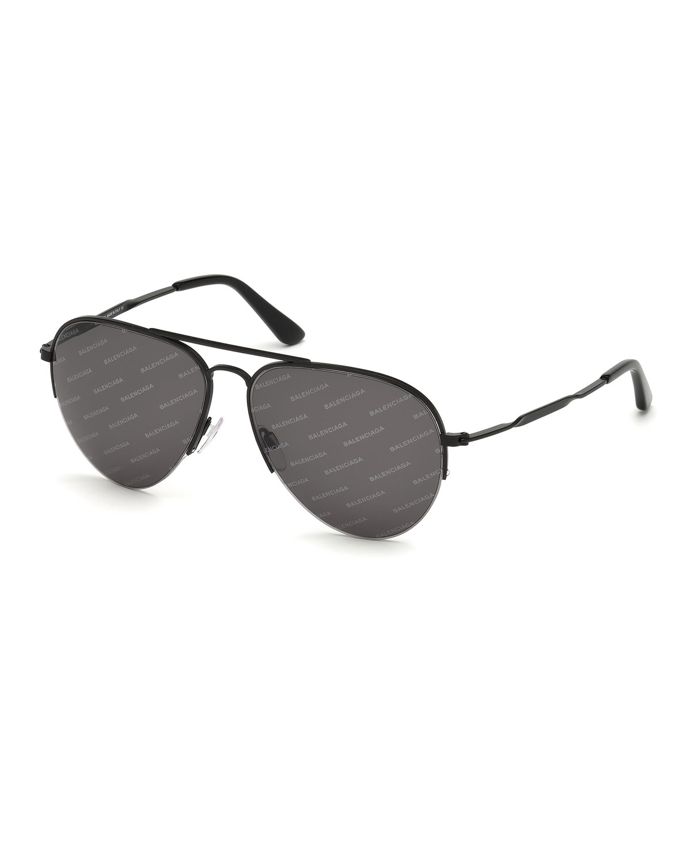 Logomania Metal Aviator Sunglasses