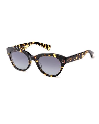 Bobbi Acetate Cat-Eye Polarized Sunglasses