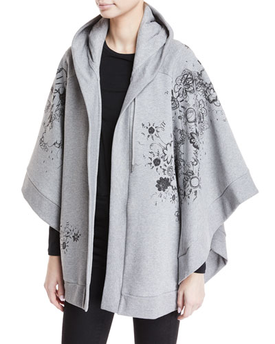 Scribbles Hooded Poncho