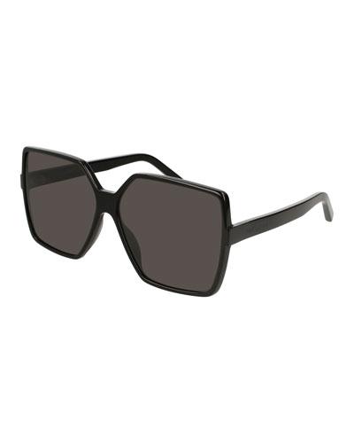 e5df1ae3207 SL 232 Betty Oversized Square Gradient Sunglasses
