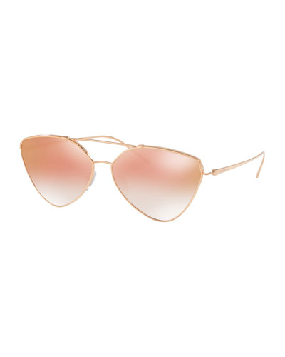 Mirrored Aviator Sunglasses, Gold