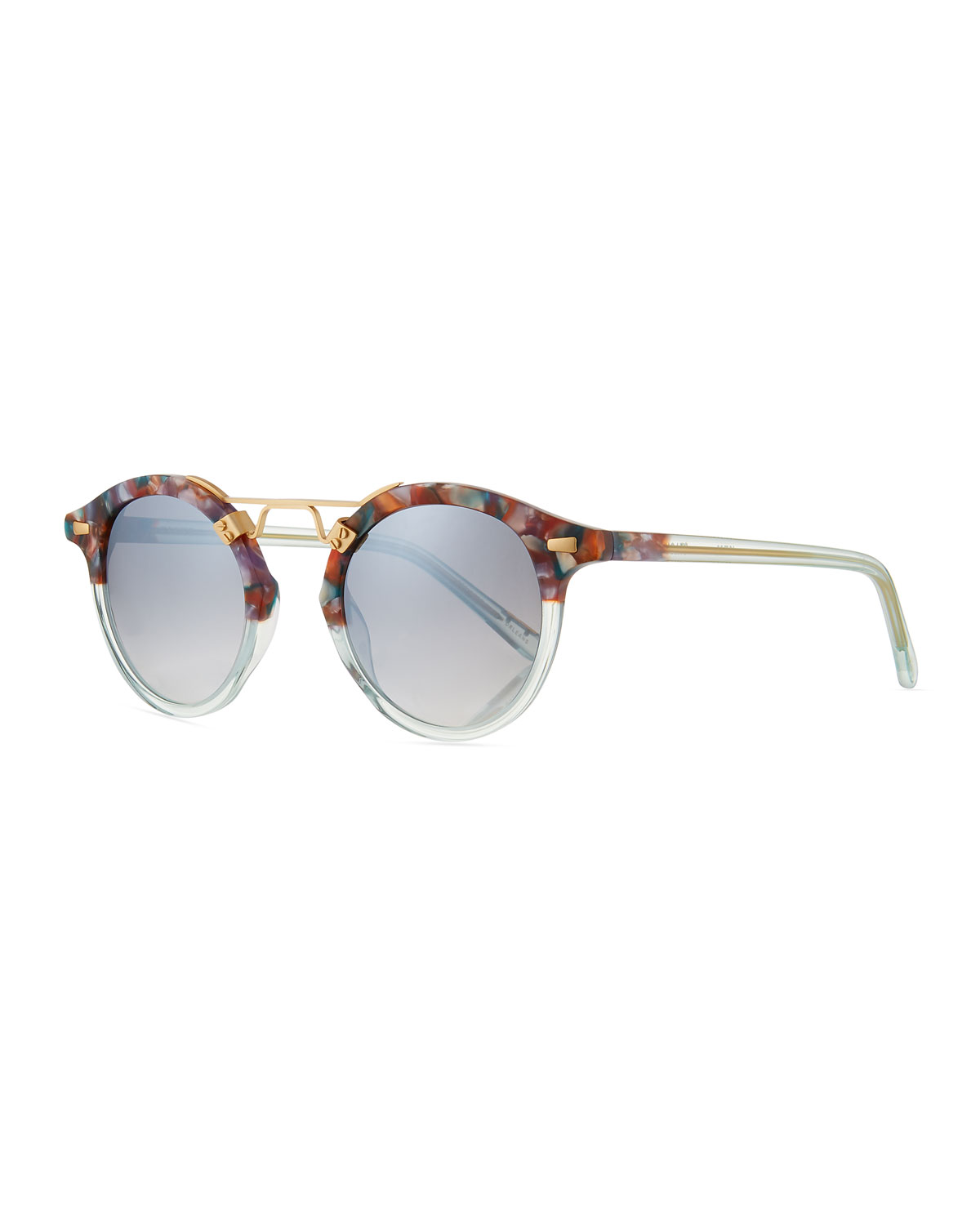 KREWE Women'S St. Louis 24K Mirrored Round Sunglasses, 46Mm in Multi