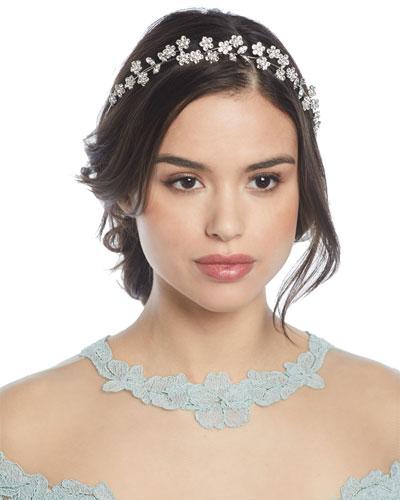 Adelie Crystal Leaf Circlet Headband