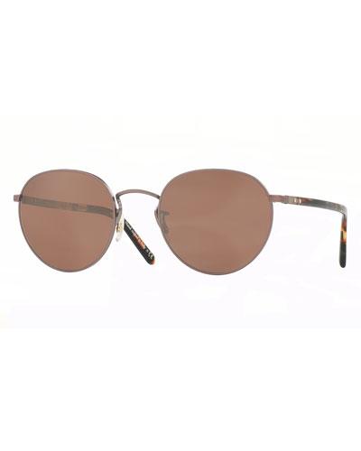 Hassett Mirrored Round Sunglasses