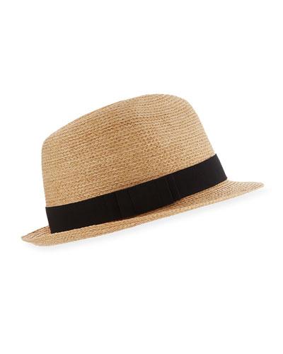 Avara Raffia Straw Fedora Hat