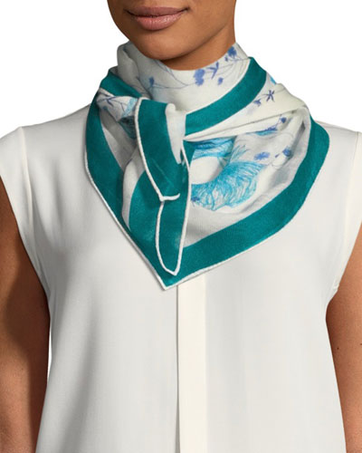 Flowers of the Lake Soffio Scarf