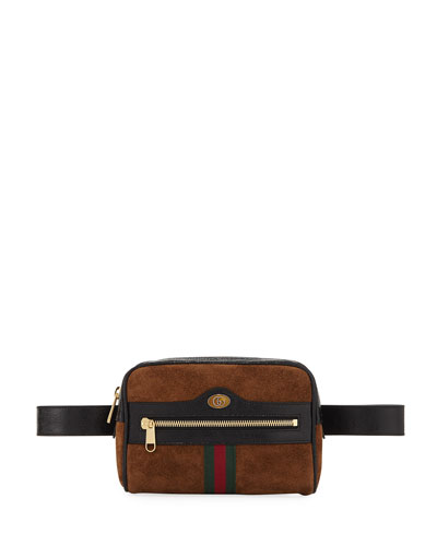 Ophidia Suede Belt Bag