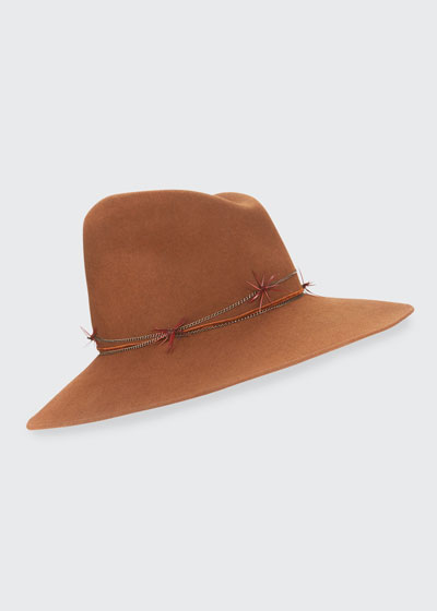 Drake Asymmetric Felt Hat