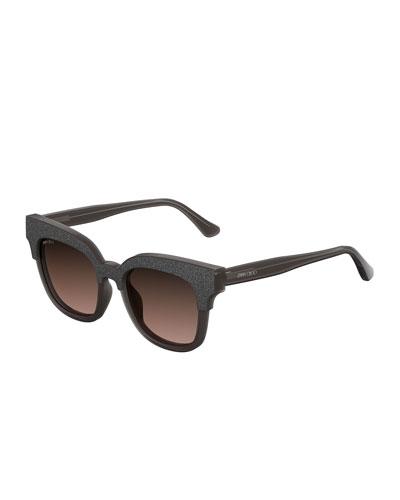 Mayela Textured Cat-Eye Sunglasses