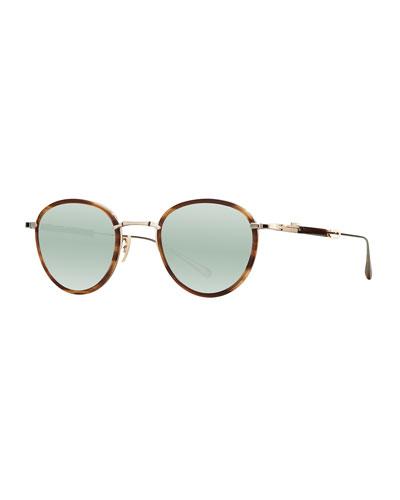 7c76092230f Round Mirrored Titanium   Acetate Sunglasses