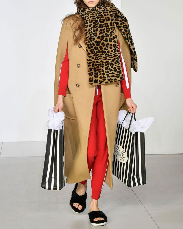 Leopard-Print Fur Scarf