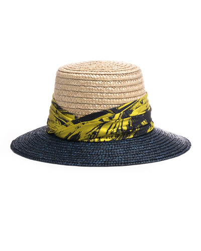 523d9ad8ce9 Stevie Two-Tone Straw Sun Hat