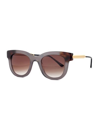 Sexxxy Ombre Acetate & Metal Polarized Sunglasses
