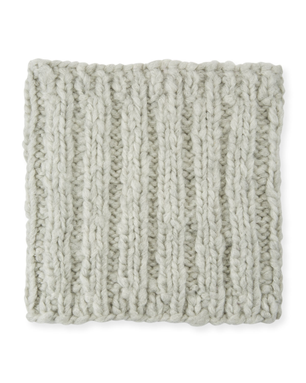 Brooke Cashmere Cable-Knit Snood, Gray