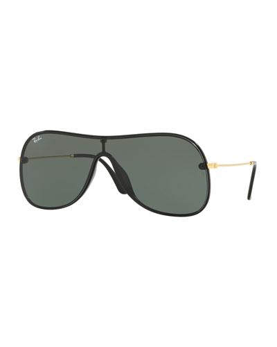 471732ccdd Lens-Over-Frame Aviator Sunglasses