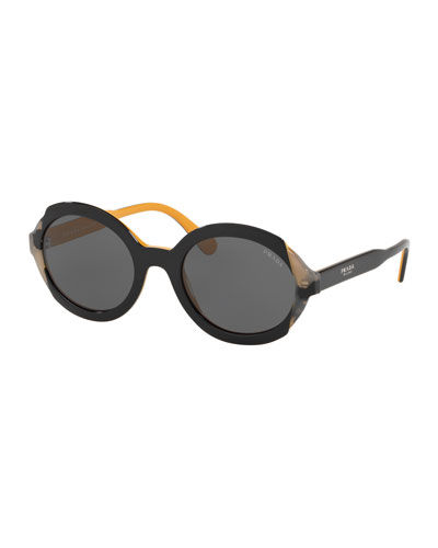 bf5479eab3ad Mirrored Acetate Sunglasses Quick Look. Prada