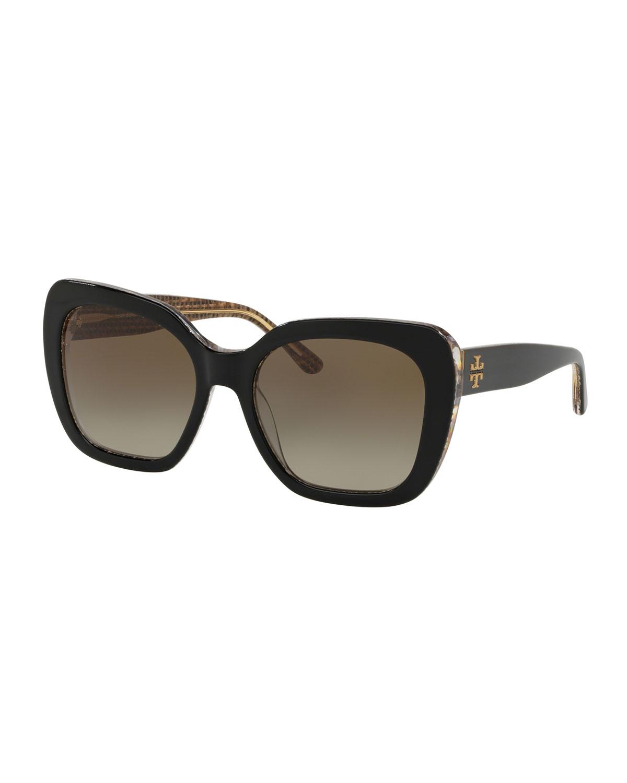 Raffia 56Mm Square Sunglasses - Crystal Gradient