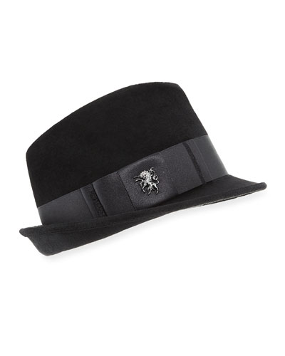 Philip Treacy Velour Trilby Hat