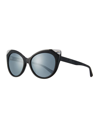 Leala Mirrored Cat-Eye Sunglasses