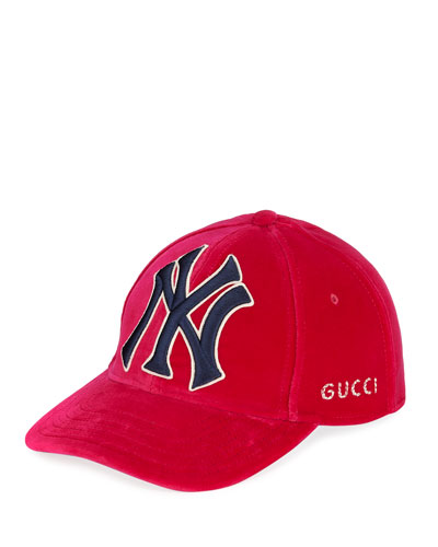 New York Yankees MLB Patch Velvet Baseball Hat Quick Look. Gucci be84a143d261