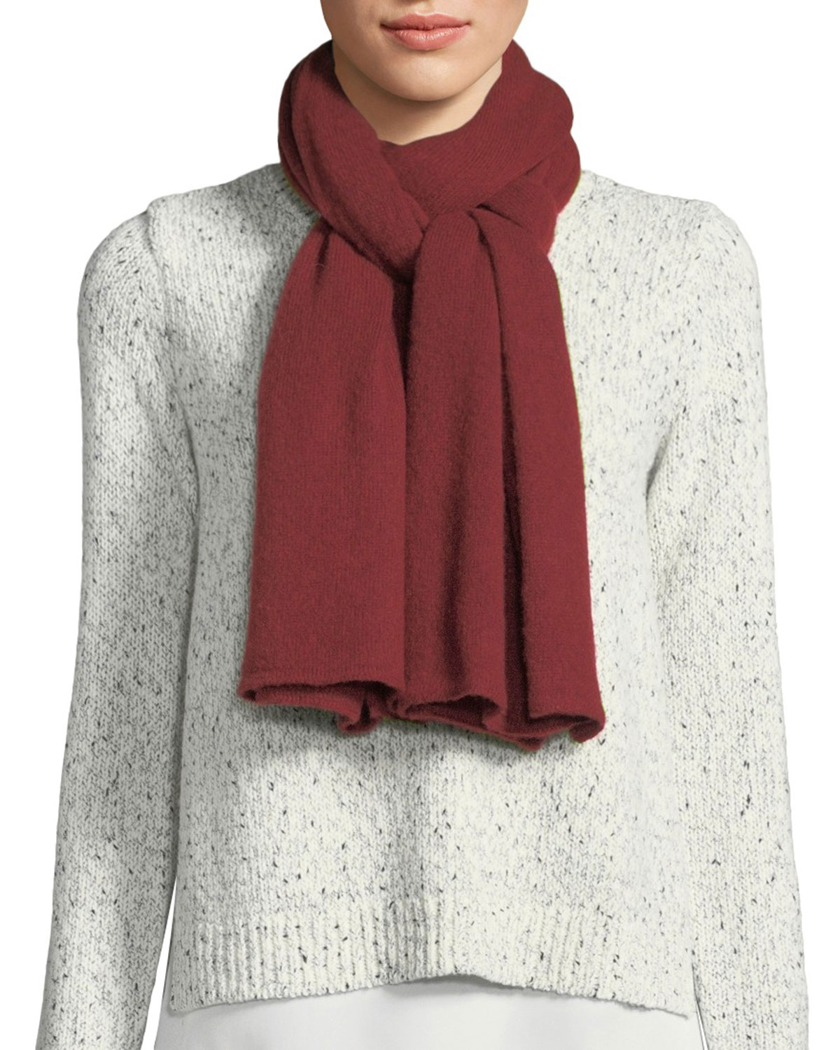 IL BORGO Heavyweight Cashmere-Blend Scarf in Red