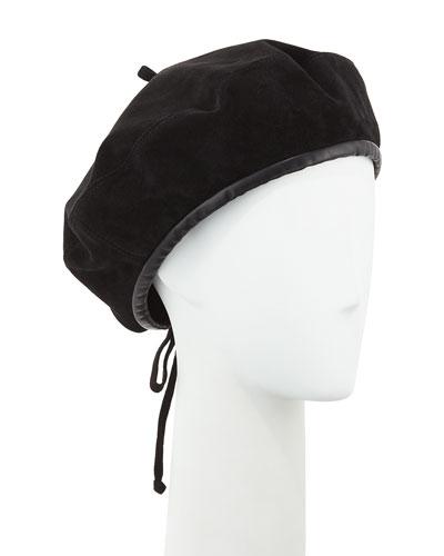 Kate Suede Adjustable Beret Hat
