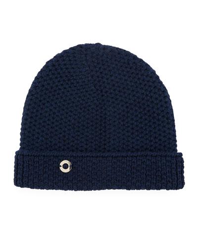 Rougement Chain-Knit Cashmere Beanie Hat 77947edc23c0