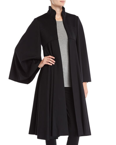 Tailored Doeskin Wool Cape