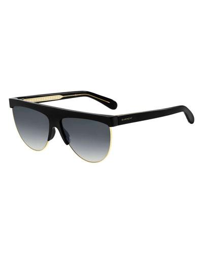 Givenchy Flattop Gradient Shield Sunglasses