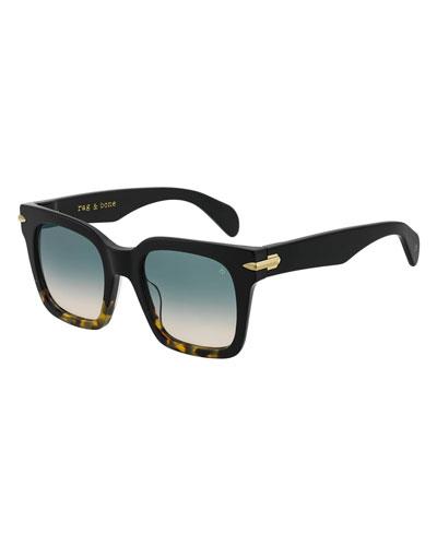 RNB1014S Square Acetate Sunglasses