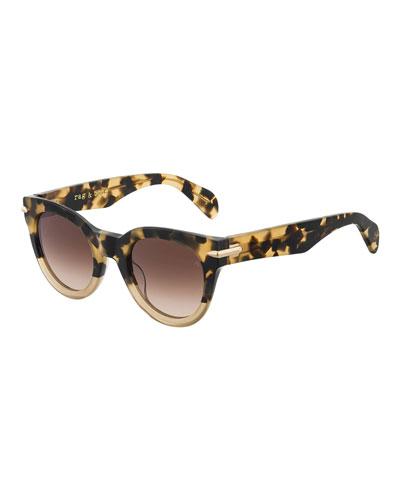RNB1015S Round Acetate Sunglasses
