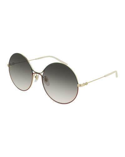 9e10948e87b9 Metal Web-Front Round Sunglasses Quick Look. Gucci
