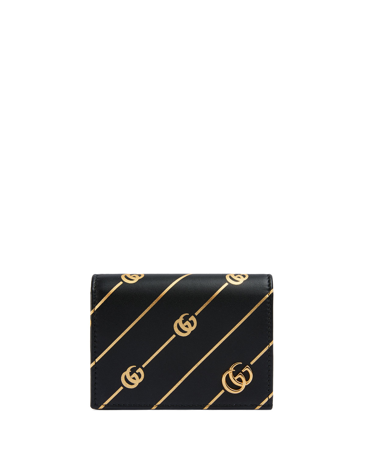 Gucci Leathers GG DIAGONAL FLAP CARD CASE