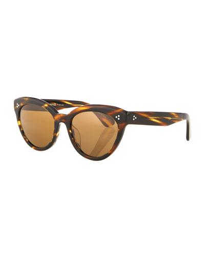 Roella Cellulose Acetate Cat-Eye Sunglasses
