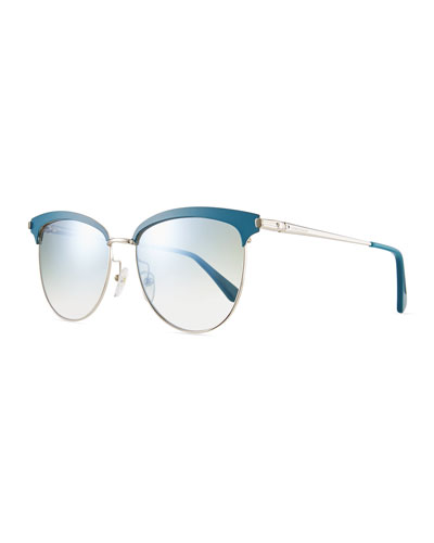 Mirrored Metal Square Sunglasses