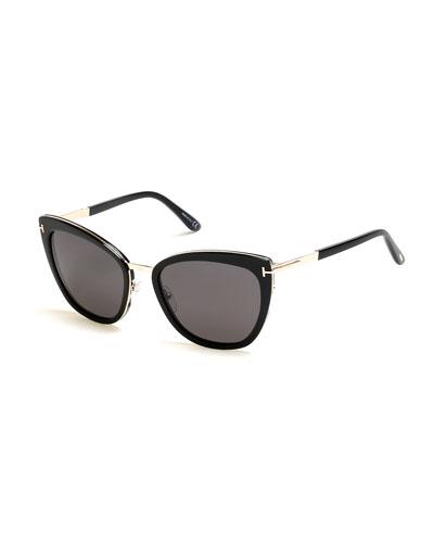 8c016299ba1 Simona Cat-Eye Metal   Acetate Sunglasses